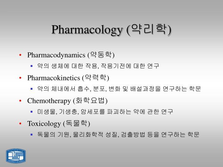 Pharmacology (