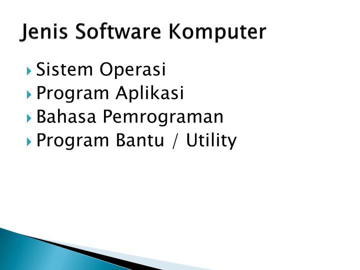 Jenis Software Komputer