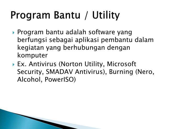 Program Bantu / Utility