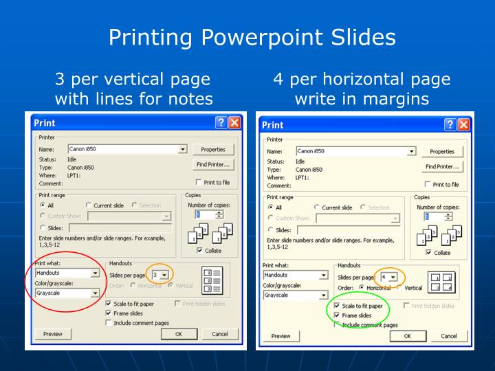 Printing Powerpoint Slides
