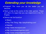 extending your knowledge