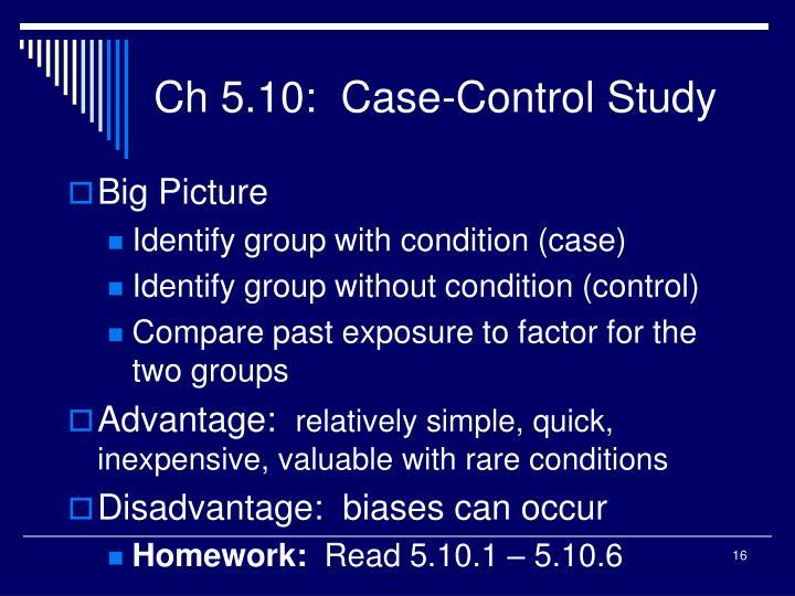 Ch 5.10:  Case-Control Study