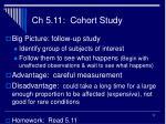 ch 5 11 cohort study