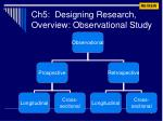 ch5 designing research overview observational study
