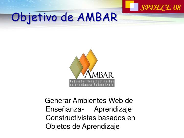 Objetivo de AMBAR
