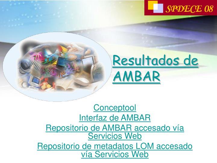 Resultados de AMBAR