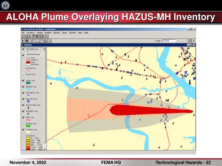 ALOHA Plume Overlaying HAZUS-MH Inventory