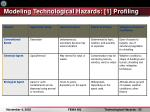 modeling technological hazards 1 profiling