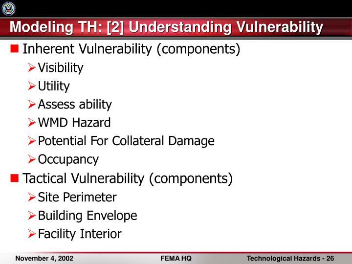 Modeling TH: [2] Understanding Vulnerability