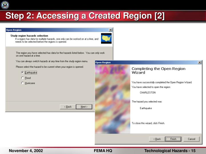 Step 2: Accessing a Created Region [2]