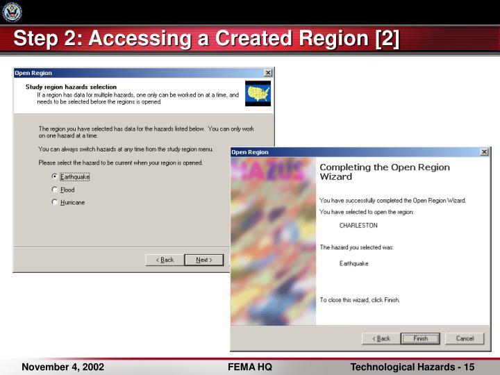 Step 2: Accessing a Created Region [2]