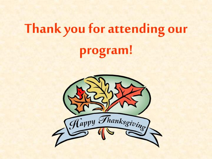 Thank you for attending our program!
