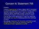 concern 6 statement 705