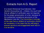 extracts from a g report