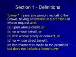 section 1 definitions