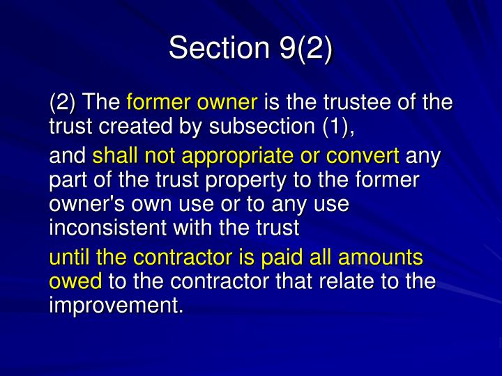 Section 9(2)