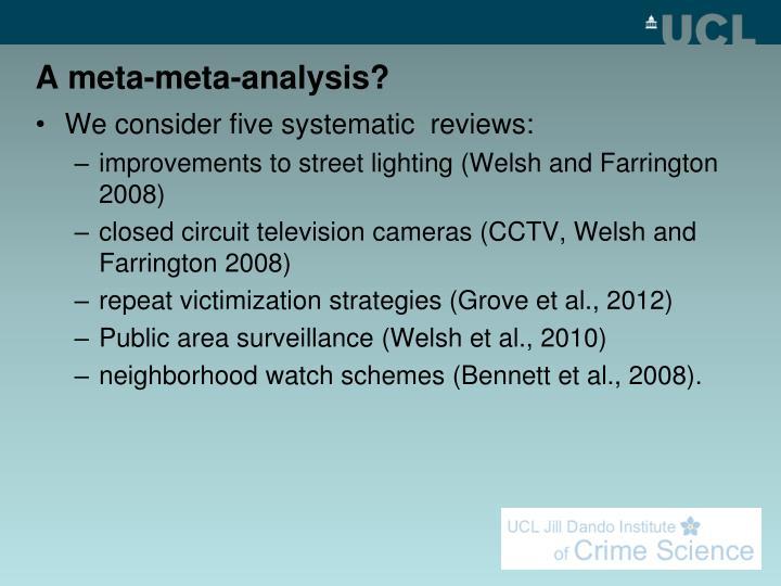 A meta-meta-analysis?