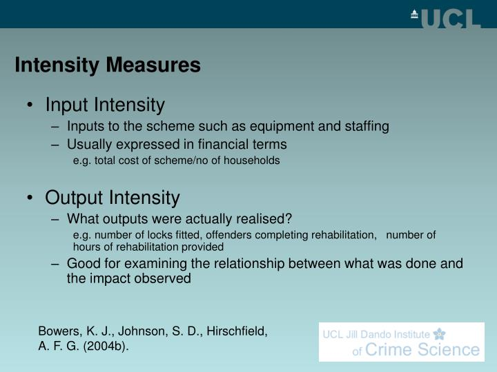 Intensity Measures
