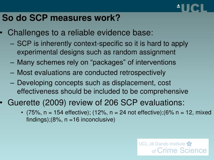 So do SCP measures work?