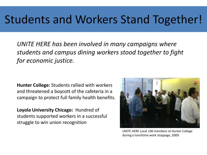 Students and Workers Stand Together!