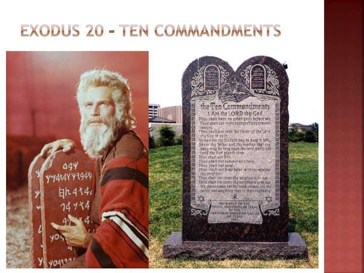 Exodus 20 – Ten Commandments