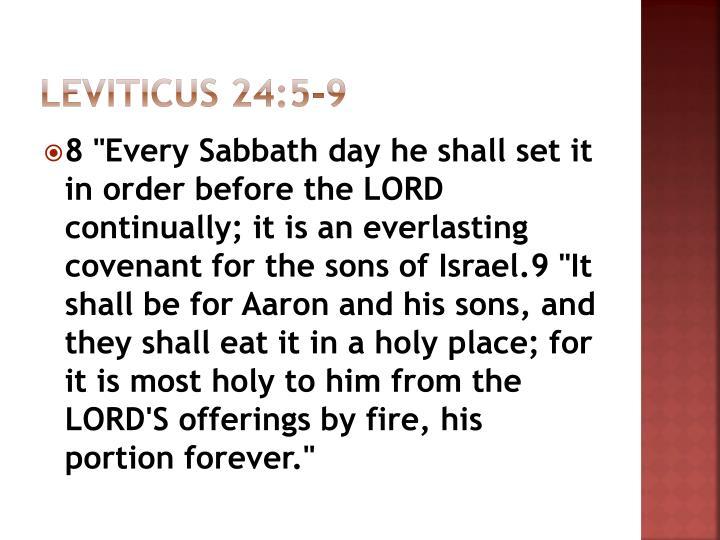 Leviticus 24:5-9