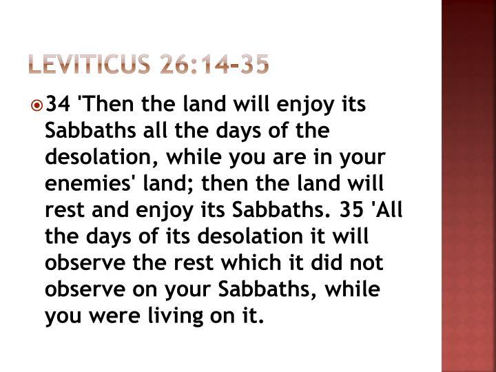 Leviticus 26:14-35