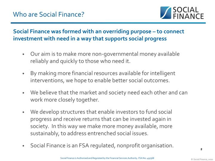 Who are social finance