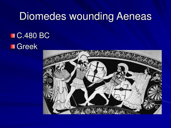 Diomedes wounding Aeneas