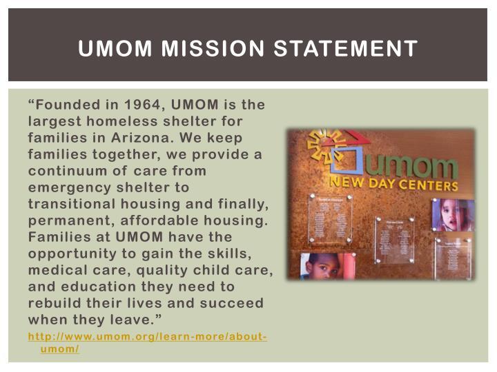 UMOM Mission Statement
