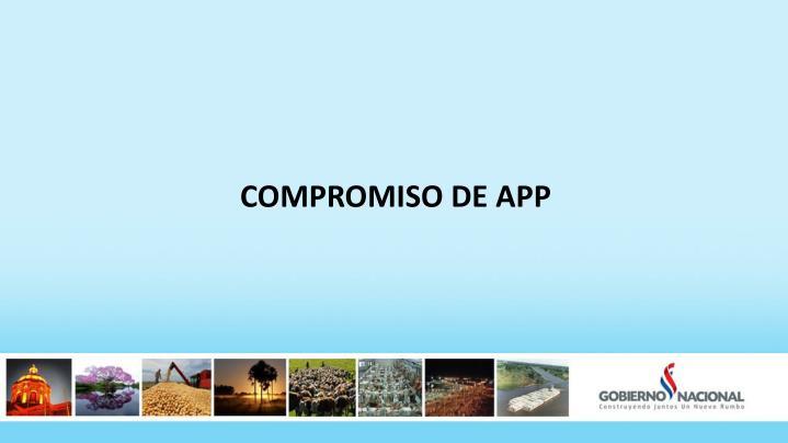COMPROMISO DE APP