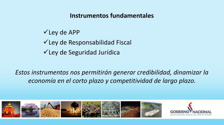 Instrumentos fundamentales