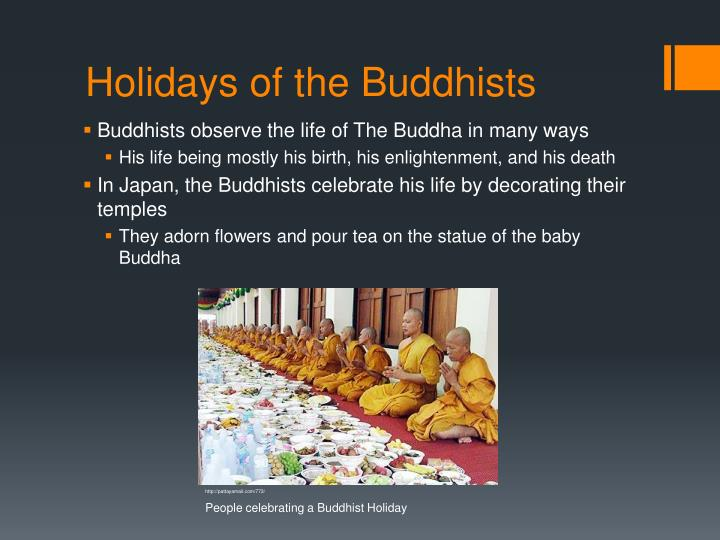 Holidays of the Buddhists