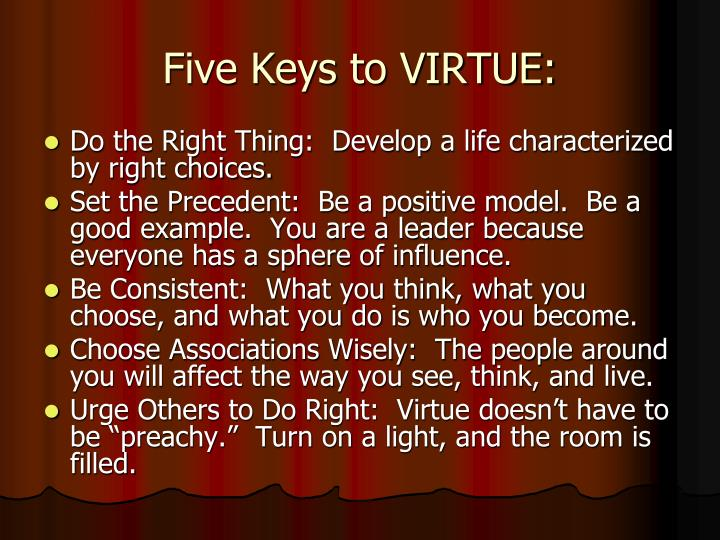 Five Keys to VIRTUE: