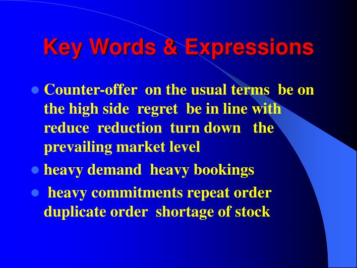 Key Words & Expressions