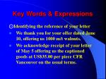 key words expressions1
