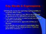 key words expressions2
