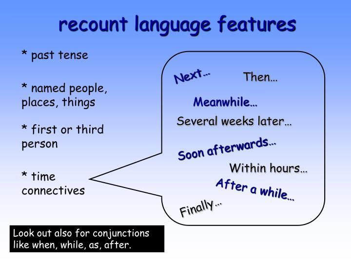 recount language features