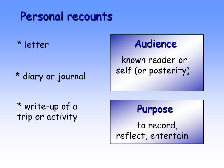 Personal recounts
