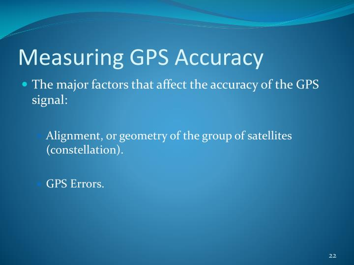 Measuring GPS Accuracy