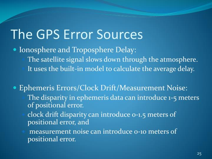 The GPS Error Sources