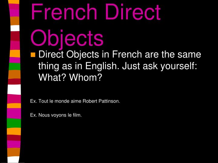 French Direct Objects