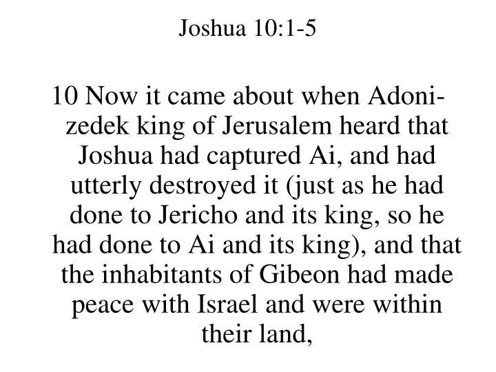 Joshua 10:1-5