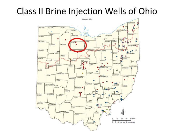 Class II Brine Injection Wells of Ohio