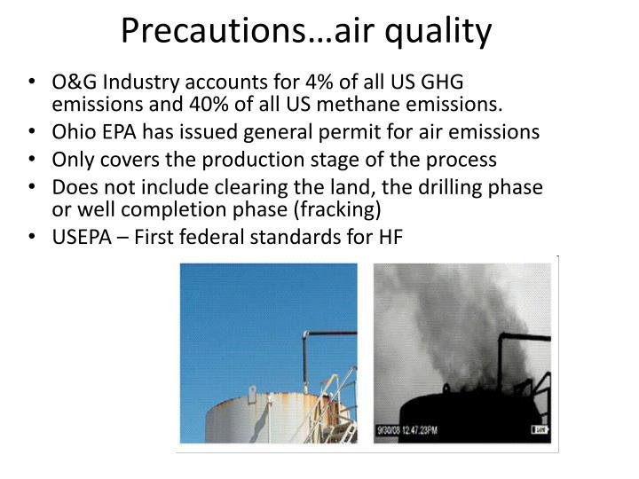 Precautions…air quality