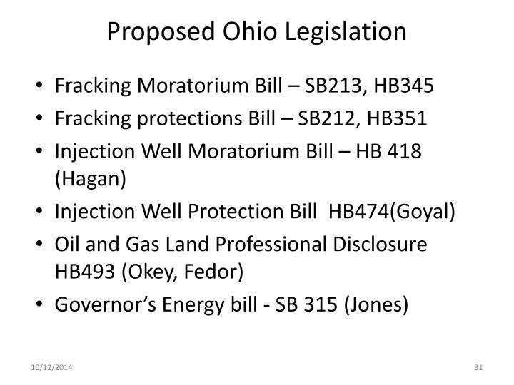 Proposed Ohio Legislation