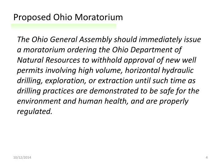 Proposed Ohio Moratorium