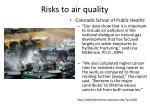 risks to air quality