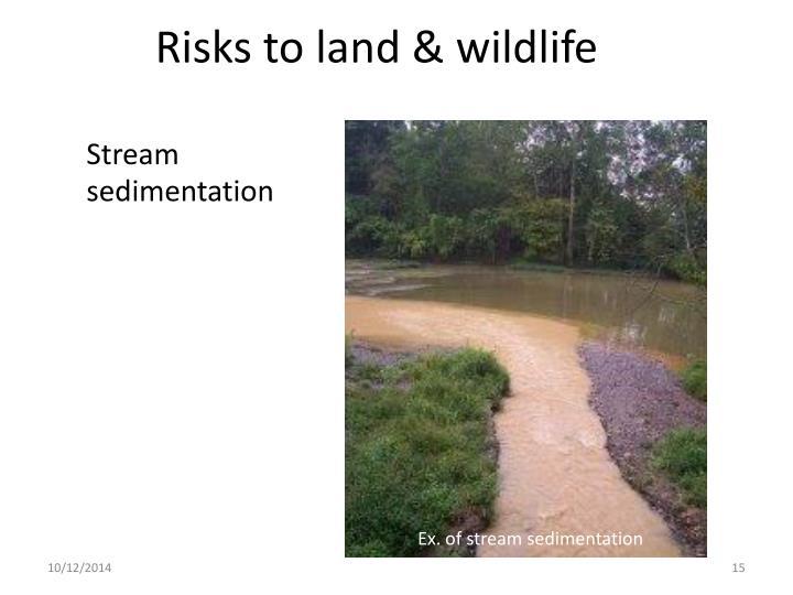 Risks to land & wildlife