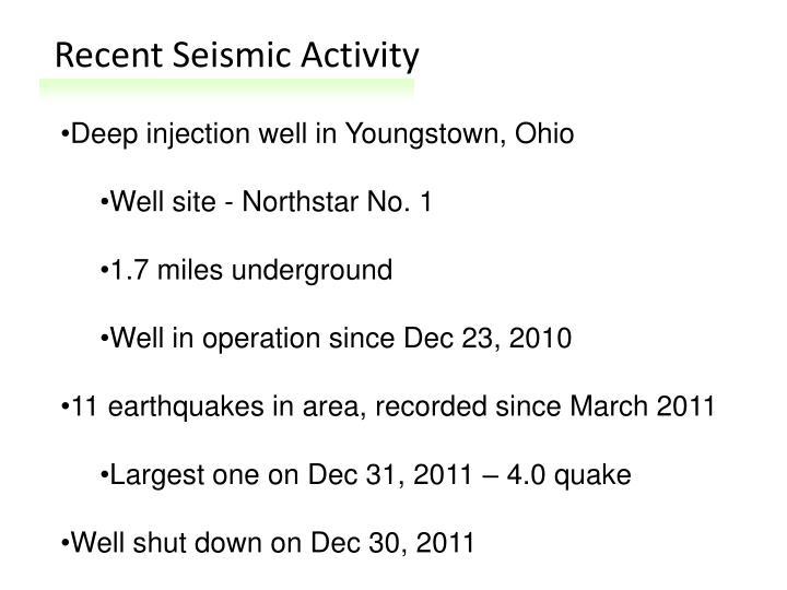 Recent Seismic Activity